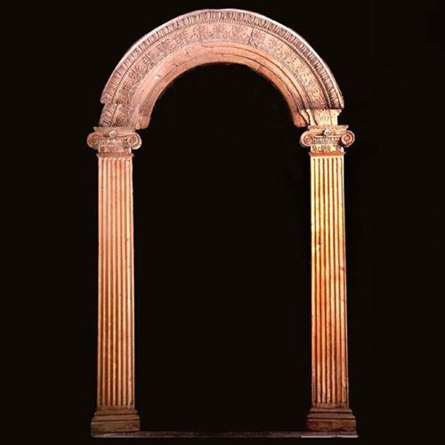 carved wood arched door frame - Wood Door Frame