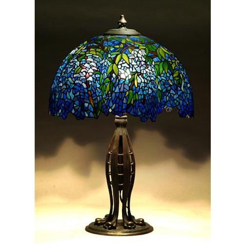 Blue Laburnum Tiffany Lamp