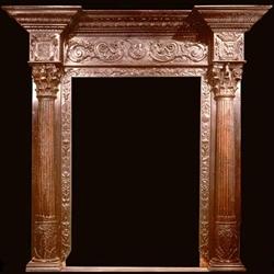Carved Wood Antique Door Frame