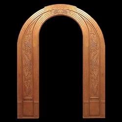 carved wood antique single door frame - Wood Door Frame