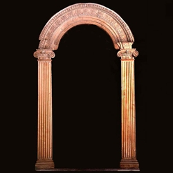 & Carved Wood Arched Door Frame