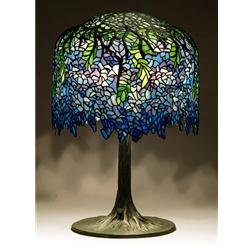 Blue Wisteria Tiffany Lamp