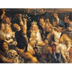 The King Drinks, Jacob Jordaens, ca. 1640
