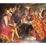 The Four Latin fathers of the Church, Jacob Jordaens, Ca 1630