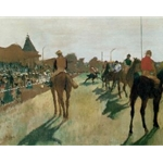 Le Defile. Horses Before the Stands, c. 1866-68