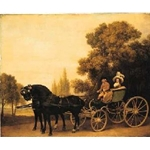 A Gentleman driving a Lady in a Phaeton, 1787, George Stubbs (1724-1806)