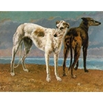 Count de Choiseul's Greyhounds 1866 Gustave Courbet